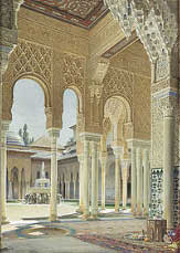 Alhambra-courtyard-with-fountain